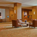 Spacious lobby and meeting space areas.