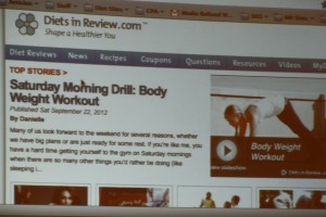 Diets in Review Screen Shot at Fitbloggin 12