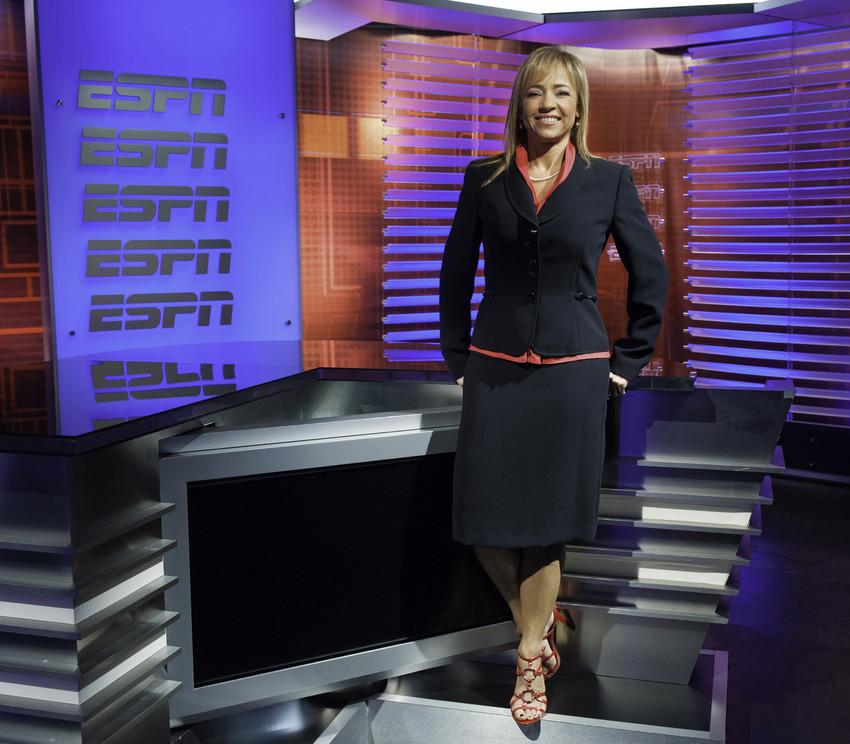 Portrait of Stephania Bell on the set (Photo by Joe Faraoni / ESPN Images)